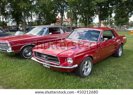 TROSA SWEDEN July 7 2016.  FORD MUSTANG model year 1967.
