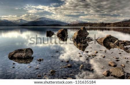 Trossachs loch lomond - stock photo