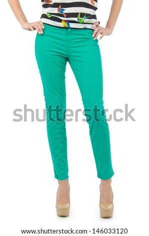 Trousers isolated on the white background - stock photo