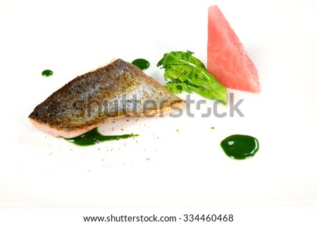 trout chef - stock photo