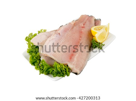 Trout fillet with skin