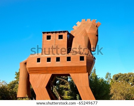 Troy wooden horse - stock photo