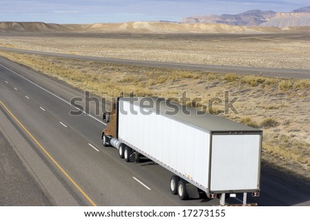 Truc on the roads of Utah. - stock photo
