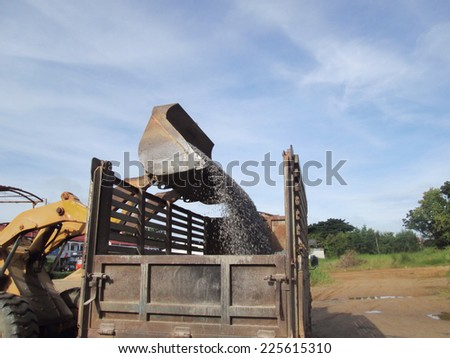 Truck backhoe - stock photo