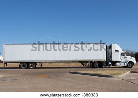 Truck blanked out and ready for your logo - stock photo