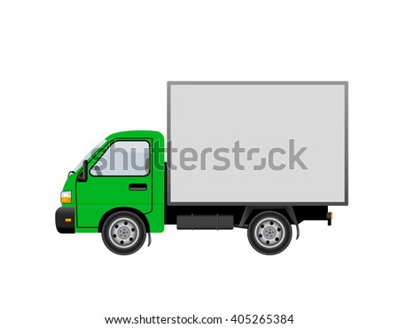 Truck car isolated on white background.