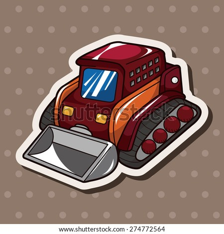 truck , cartoon sticker icon