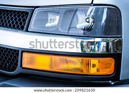 Truck Front End Headlight  - stock photo