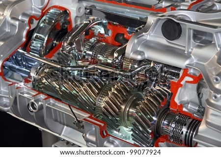 Truck gearbox. Gearbox part for truck vehicle. - stock photo