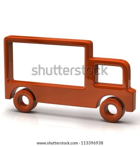 Truck icon - stock photo