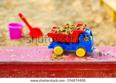truck in the sandbox - stock photo