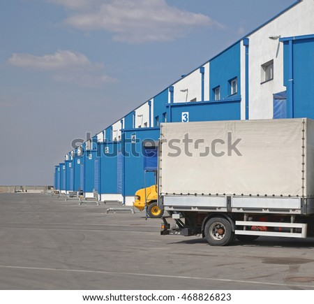 Truck Loading Dock at Distribution Warehouse