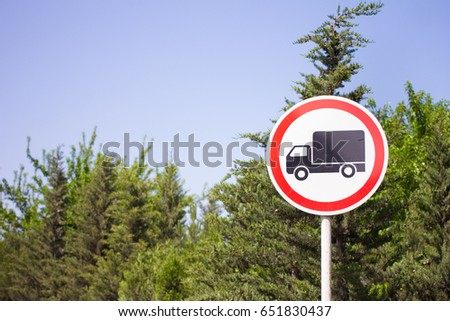 Truck Motor Lorry Traffic Road Sign