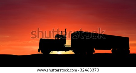 Truck on road