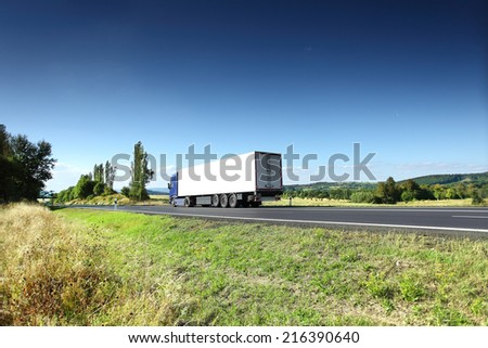 Truck on the road - stock photo