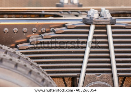 truck spare parts - stock photo
