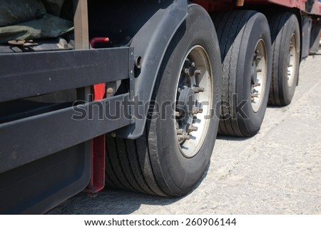 Truck trailer - stock photo