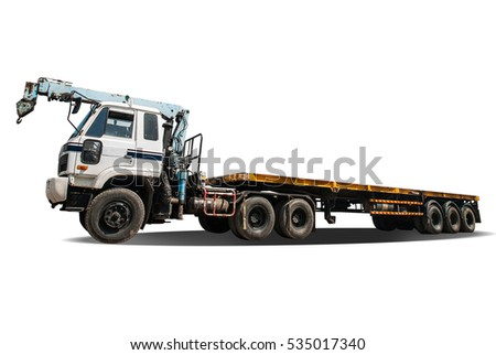 Truck under the white background with clipping path
