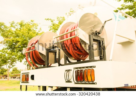 truck water taps  Wash provincial capital, vintage color style - stock photo