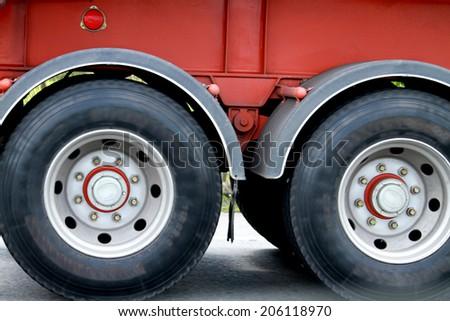 Truck wheels - stock photo