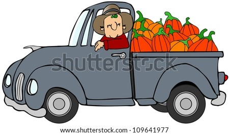 Truckload of pumpkins