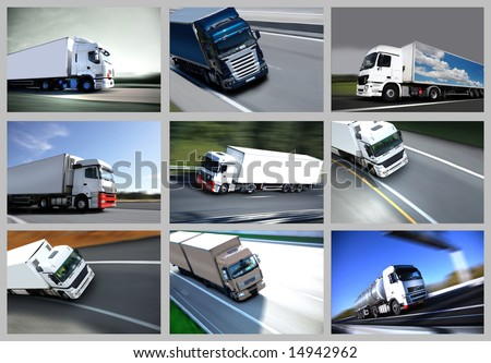 trucks - stock photo