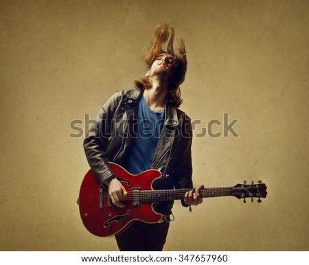 True guitarist - stock photo