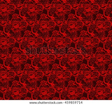 TRULY seamless pattern of sexy red and black lace