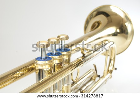 trumpet on a white background