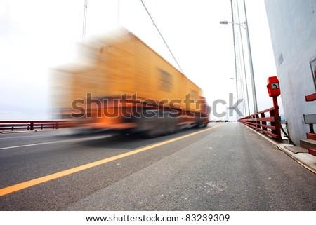 trunk on bridge - stock photo