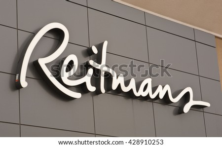 TRURO, CANADA - MAY 27, 2016: Reitmans Ltd. is a women's attire retail company. Reitmans has stores in all provinces and territories of Canada.