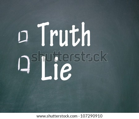 truth and lie choice - stock photo