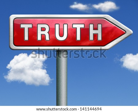 truth be honest honesty leads a long way find justice truth button icon red road sign arrow search truth - stock photo