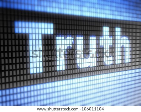 Truth  Full collection of icons like that is in my portfolio - stock photo