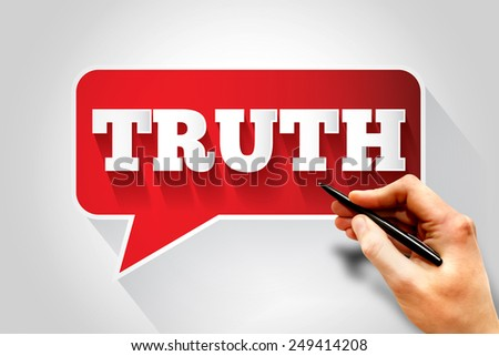 TRUTH text message bubble, business concept - stock photo