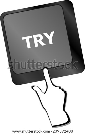 try button on keyboard key - stock photo