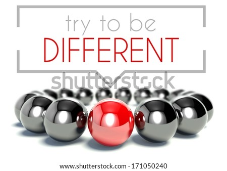 Try to be different business unique concept - stock photo
