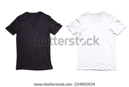 tshirt black and white - stock photo