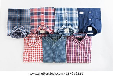 tshirt ol fo the kind fold on plan isolated - stock photo