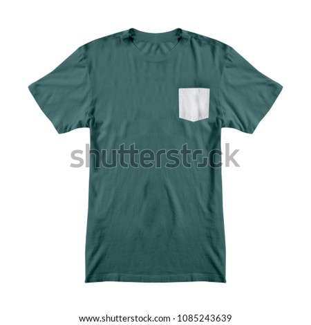Tshirt Template Pocket Stock Photo (Royalty Free) 1085243639 ...