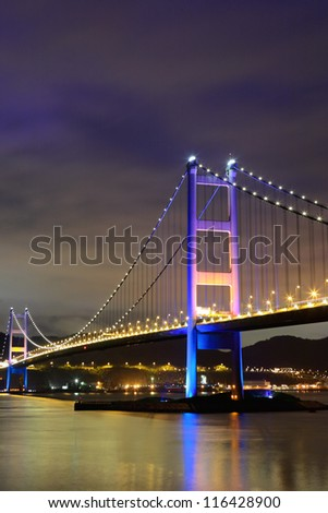 Tsing Ma Bridge at Hong kong