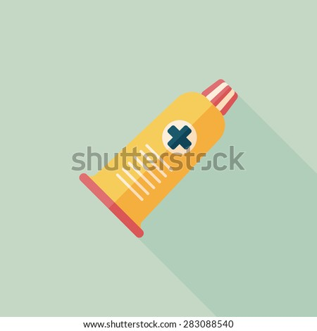tube flat icon with long shadow - stock photo