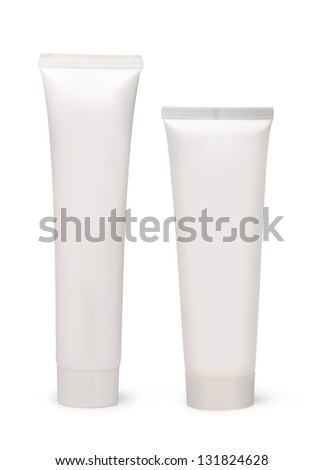tube for cosmetic cream, isolated on white - stock photo
