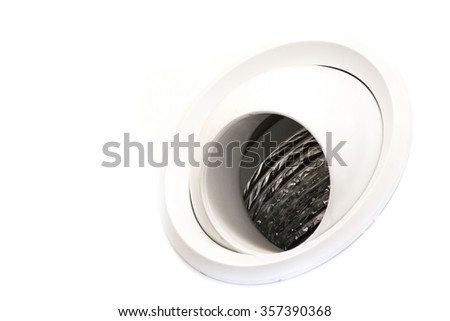 Tube of air conditioning on the wall - stock photo