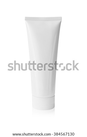 Tube of cream isolated on white background