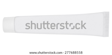 Tube of cream isolated on white. Clipping path included. - stock photo