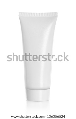 Tube Of Cream Or Gel white plastic product. for another perfect white container, product and packaging please visit my portfolio - stock photo