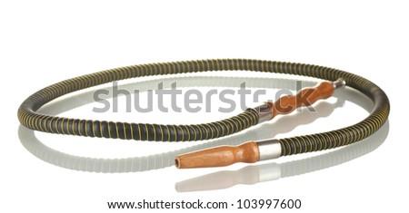 tube of the hookah isolated on white background - stock photo