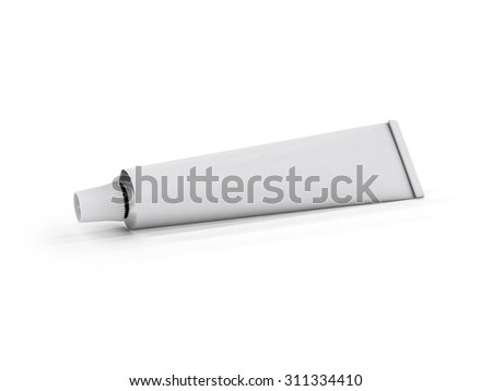 Tube on a white background