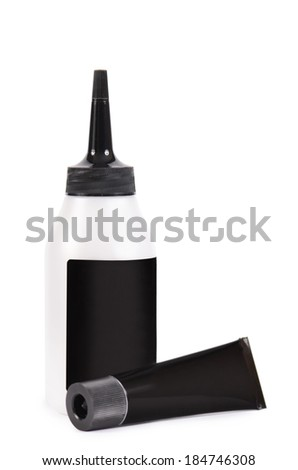 Tube with a paint for hair isolated - stock photo